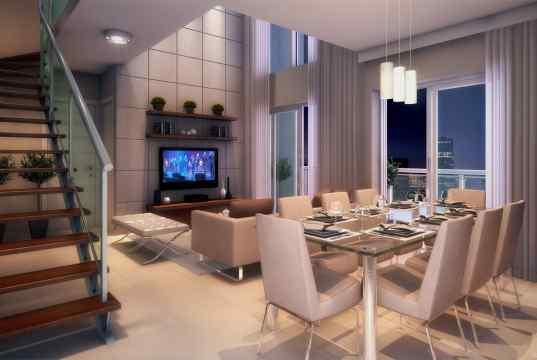 Imagem Ilustrativa do Living Duplex da planta de 115 m²