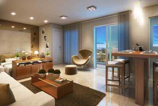Imagem Ilustrativa  Living Loft da planta de 48 m²