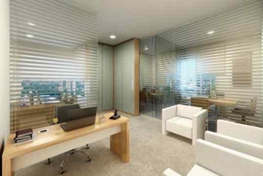 Imagem Ilustrativa de sala decorada de 52 m²
