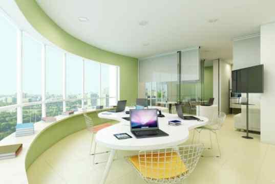 Imagem Ilustrativa de sala decorada de 71 m²