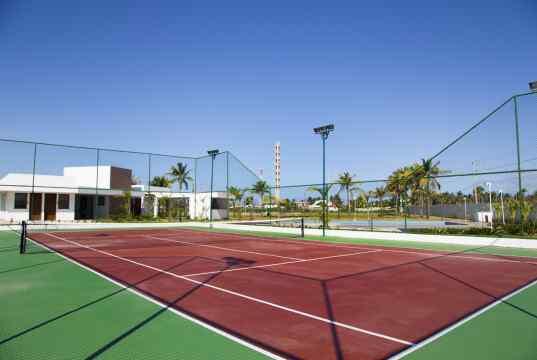 Imagem real da quadra de tênis - CONDOMÍNIO