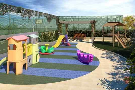 Imagem ilustrativa do playground e das quadras