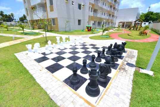 Imagem real do xadrez humano