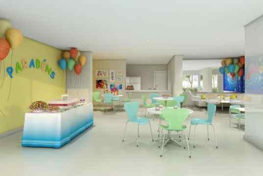 Imagem ilustrativa do salão de festas infantil
