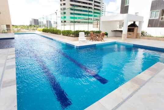 Imagem real da piscina